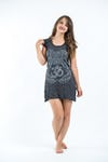 Sure Design Womens Ohm hands Dress Silver on Black