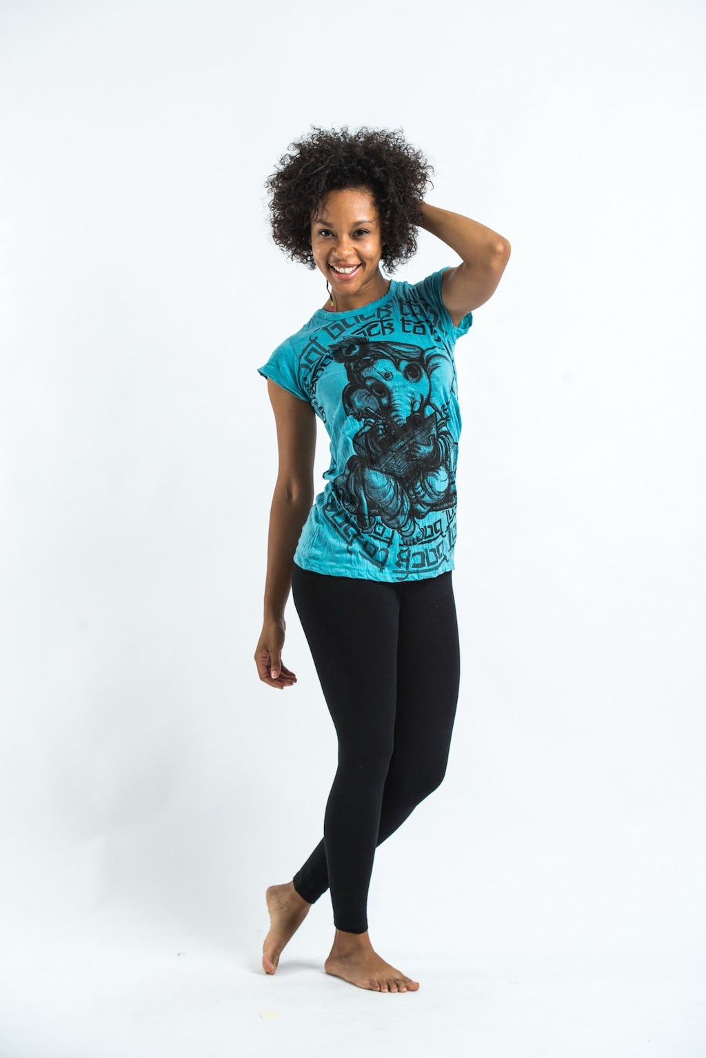 Sure design t shirts and clothing - Sure Design Womens Baby Ganesh T Shirt Turquoise