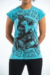 Sure Design Womens Baby Ganesh T-Shirt Turquoise