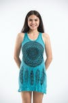Sure Design Womens Tank Dress Dreamcatcher Turquoise