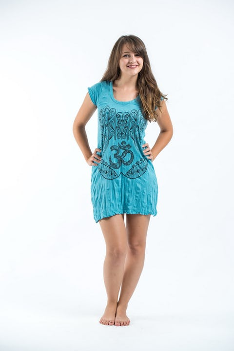 Sure Design Womens Ohm hands Dress Turquoise