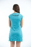 Womens Om hands Dress in Turquoise
