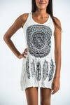 Sure Design Womens Dreamcatcher Tank Dress White