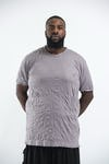 Plus Size Mens Solid Color T-Shirt in Gray