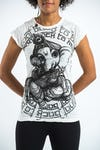 Sure Design Womens Baby Ganesh T-Shirt White