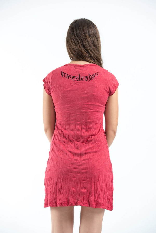 Womens Om hands Dress in Red
