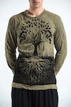 Sure Design Unisex Tree Of Life Long Sleeve Shirts Green
