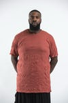 Plus Size Men's Solid T-Shirt Brick
