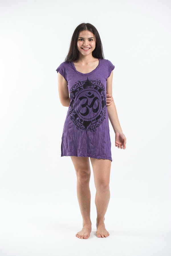 Sure Design Womens Infinitee Ohm Dress Purple