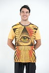 Sure Design Mens Pyramid eye T-Shirt Yellow