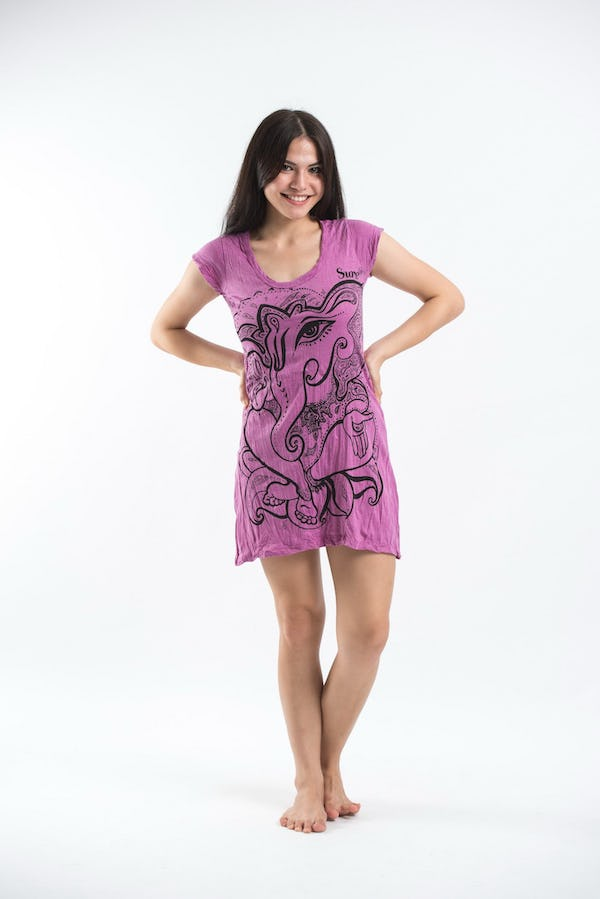 Sure Design Womens Cute Ganesha Dress Pink