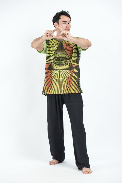 Sure Design Mens Pyramid eye T-Shirt Green