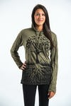 Sure Design Unisex Tree of Life Hoodie Green