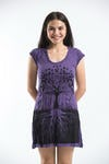 Sure Design Womens Tree of Life Dress Purple