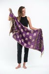 Nepal Hand Made Pashmina Shawl Scarf Purple