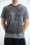 Sure Design Mens Batman Ganesh T-shirt Gray