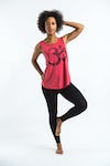 Super Soft Womens Ohm Tank Top Pink
