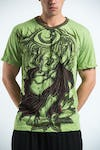 Sure Design Mens Happy Buddha T-shirt Green