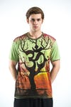 Sure Design Mens Ohm Tree T-Shirt Green