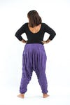 Plus Size Super Soft Harem Pants in Purple