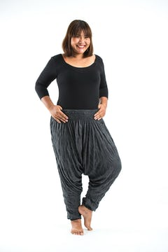Unisex Brown Thai Silk Fisherman Pants