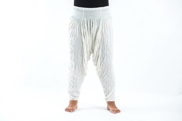 Plus Size Super Soft Harem Pants in White