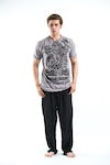 Sure Design Mens Tattoo Ganesh  T-Shirt Gray