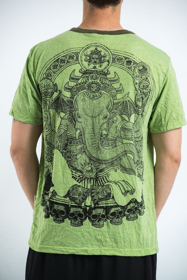 Sure Design Mens Batman Ganesh T-shirt Green