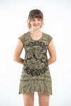 Sure Design Womens Avatar Ganesh Dress Green