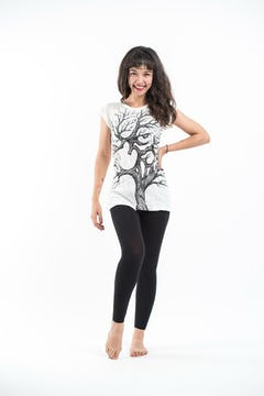 Sure Design Womens Batman Ganesh T-Shirt White