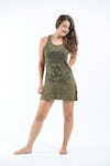 Sure Design Womens Ohm hands Tank Dress Green