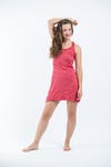 Sure Design Womens Solid Tank Dress Red