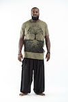 Plus Size Mens Tree of Life T-Shirt in Green