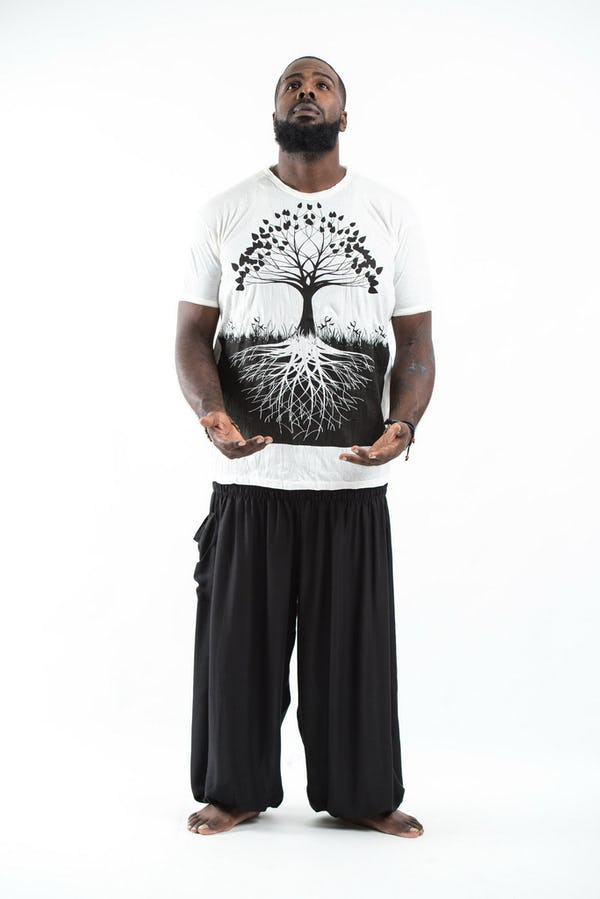 Plus Size Men's Tree of Life T-Shirts White
