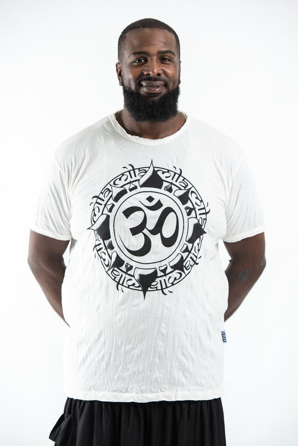 Plus Size Men's Infinitee Ohm T-Shirts White