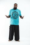 Plus Size Mens Infinitee Om T-Shirt in Turquoise