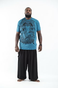Plus Size Mens Tree of Life T-Shirt in Turquoise