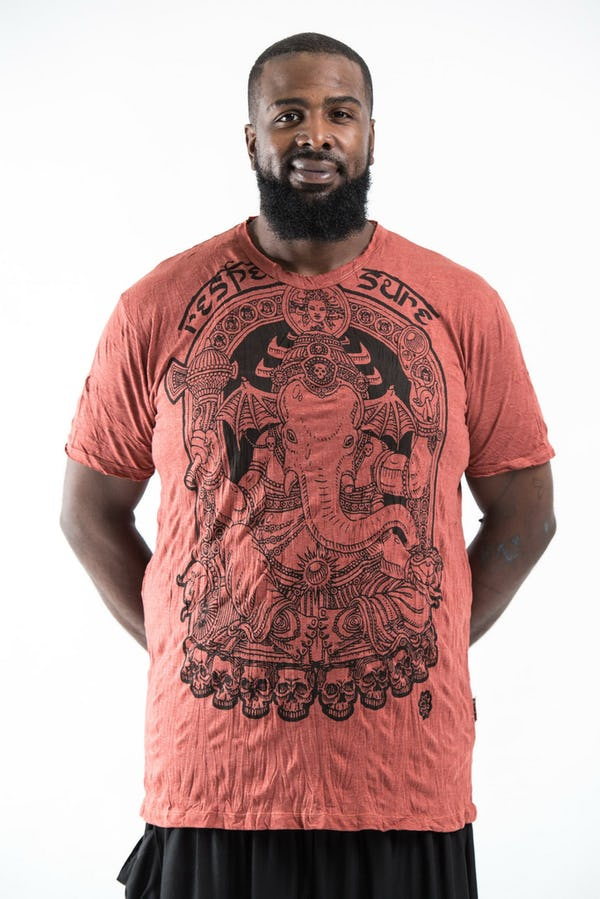 Plus Size Men's Batman Ganesh T-Shirts Brick