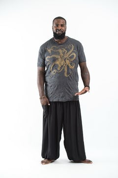 Plus Size Men's Infinitee Ohm T-Shirts Gold on Black