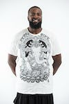 Plus Size Men's Batman Ganesh T-Shirts White