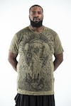 Plus Size Men's Wild Elephant T-Shirts Green