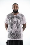 Plus Size Men's Wild Elephant T-Shirts Gray