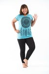Plus Size Women's Dreamcatcher T-Shirts Turquoise