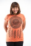 Plus Size Women's Dreamcatcher T-Shirts Orange