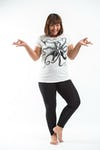 Plus Size Women's Octopus T-Shirts White