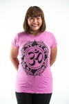 Plus Size Women's Infinitee Ohm T-Shirts Pink