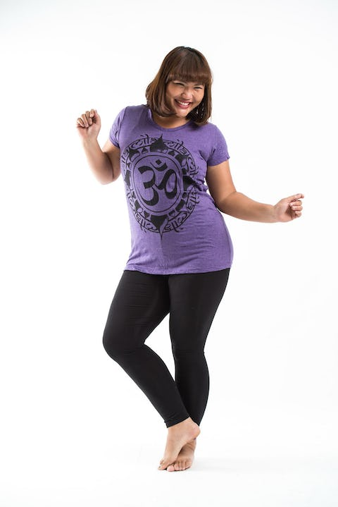 Plus Size Women's Infinitee Ohm T-Shirts Purple