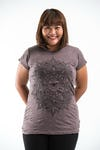 Plus Size Women's Lotus Mandala T-Shirts Brown