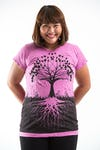 Plus Size Women's Tree of Life T-Shirts Pink
