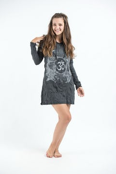 Womens Tree of Life Hoodie Dress in Red